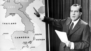 Nixon Points at Cambodia