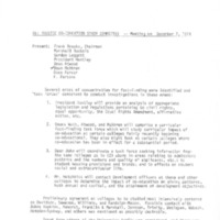 Trustee Co-Education Study Committee - Meeting on December 7, 1974